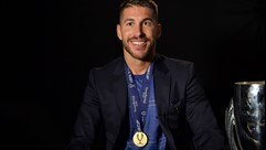 Ramos reaction to Real Madrid Super Cup glory