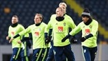 Sweden players train