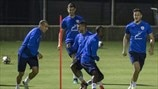 Israel players train
