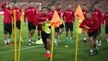 Macedonia players train