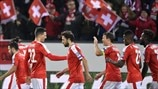 Switzerland player celebrate