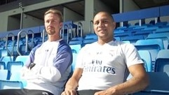 Roberto Carlos joins Real Madrid for skills challenge