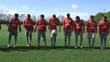 Arsenal take on the skills challenge