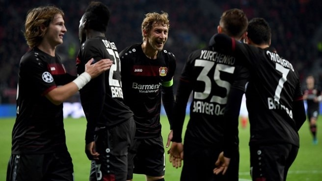 Victory for Leverkusen but Monaco win Group E