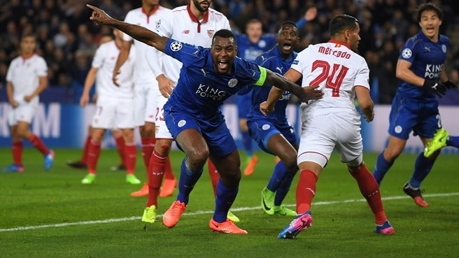 Leicester storm back to advance at expense of Sevilla