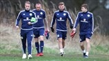 Scotland players train