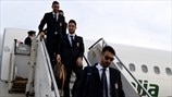 Italy players arrival