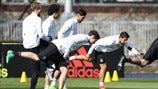 Germany players train