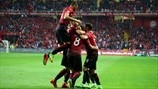 Turkey players celebrate