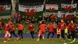 Wales players train