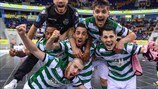 Sporting Clube de Portugal players celebrate victory