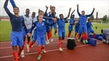 France players celebrate