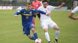 Bosnian goal means Serbia heartbreak