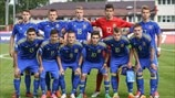 Ukraine squad before kick-off