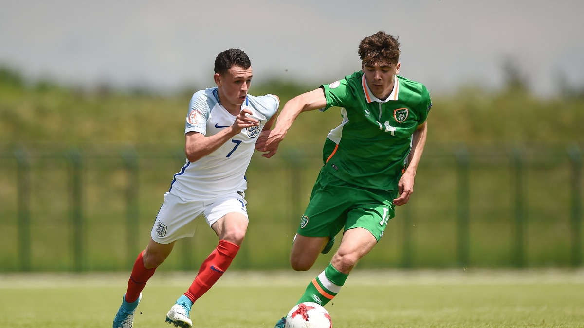 Phil Foden (England) & Richard O'Farrell (Republic of Ireland)