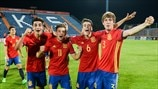 Spain players celebrate