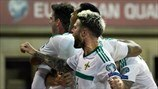 Northern Ireland players celebrate