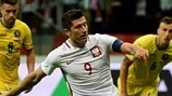 Watch Lewandowski hat-trick for Poland against Romania