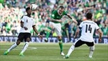 Glenn Whelan (Republic of Ireland), David Alaba & Julian Baumgartlinger (Austria)
