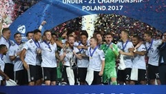 See the moment that Germany lifted the 2017 U21 trophy