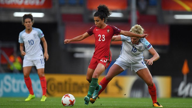 Melissa Antunes (Portugal) & Millie Bright (England)