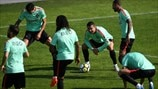 Portugal players train