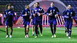 Cyprus players train