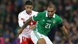 Ricardo Rodriguez (Switzerland) & Josh Magennis (Northern Ireland)