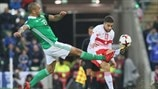 Josh Magennis (Northern Ireland) & Ricardo Rodriguez (Switzerland)