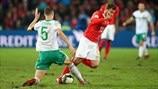 Jonny Evans (Northern Ireland) & Admir Mehmedi (Switzerland)