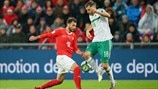 Admir Mehmedi (Switzerland) & Aaron Hughes (Northern Ireland)
