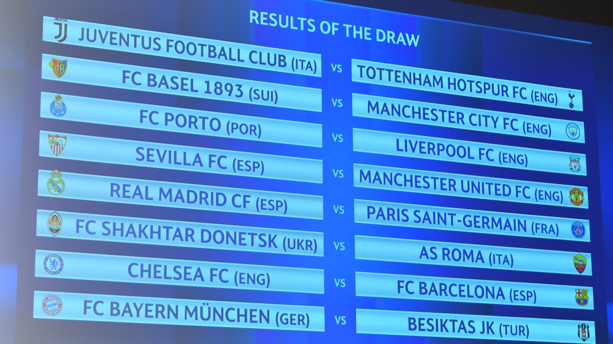 Uefa Champions League Round Of 16 Draw Uefa Champions League