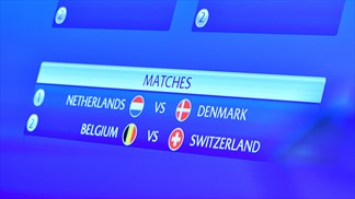 Play-offs: Netherlands-Denmark, Belgium-Switzerland