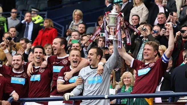 Hearts prevail in Scottish Cup final derby