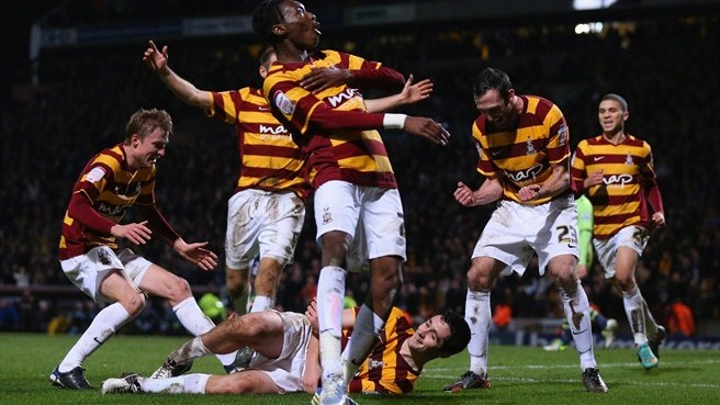 Bradford stun Villa to dream of Wembley