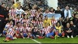 Club Atlético de Madrid celebrate