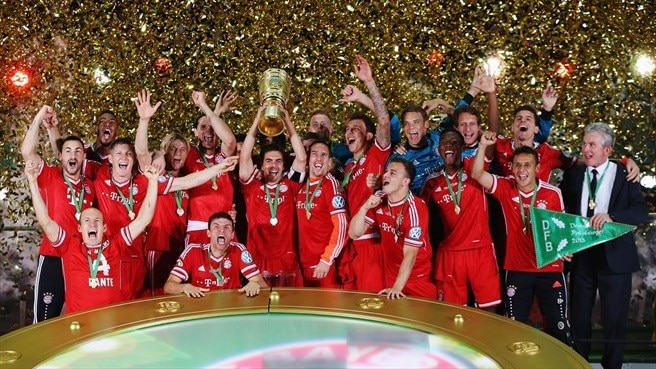 Bayern lift German Cup to land historic treble
