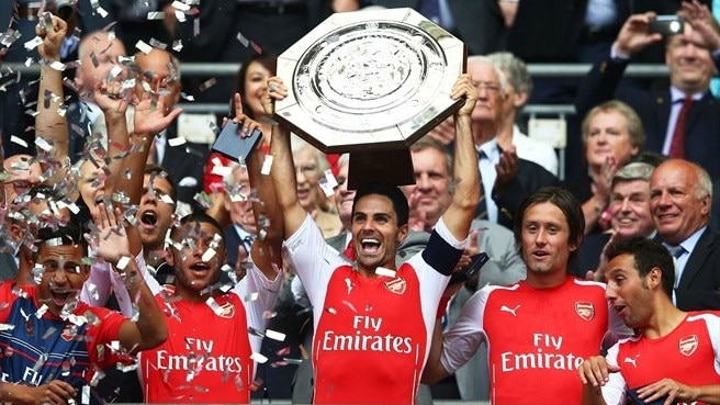 Arsenal defeat City to lift Community Shield