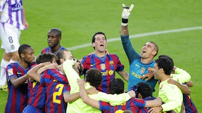 Last-day joy for Barcelona and Inter