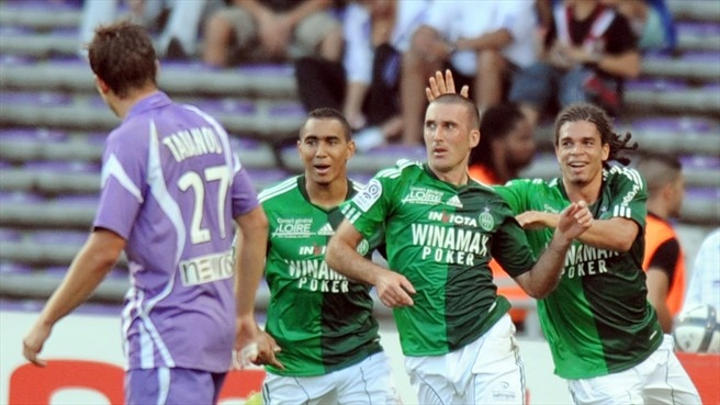 St-Etienne end Toulouse's perfect run