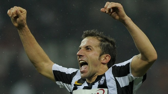 Del Piero record caps Juve win at Milan