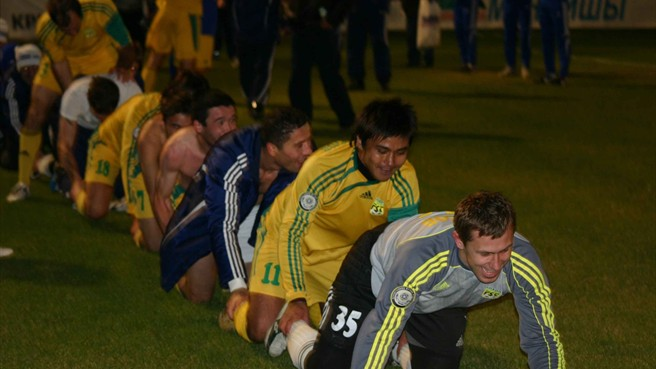 Tobol toasting first Kazakh title