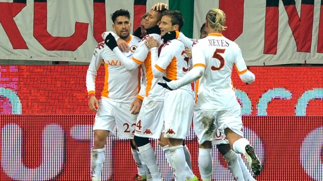 Roma halt Milan's march clear of chasing pack