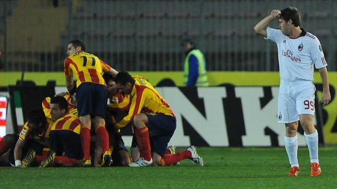 Milan kept in check by late Lecce equaliser