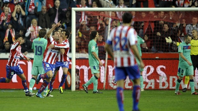 Sporting put an end to Barcelona sequence