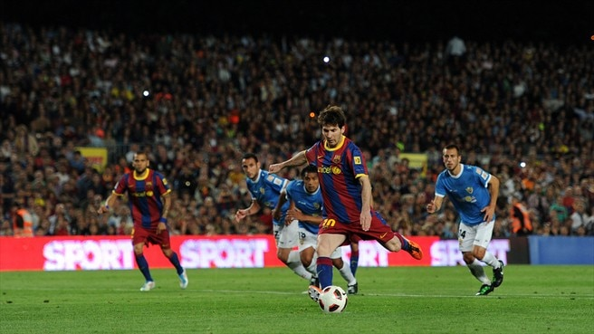 Two-goal Messi turns tide Barcelona's way