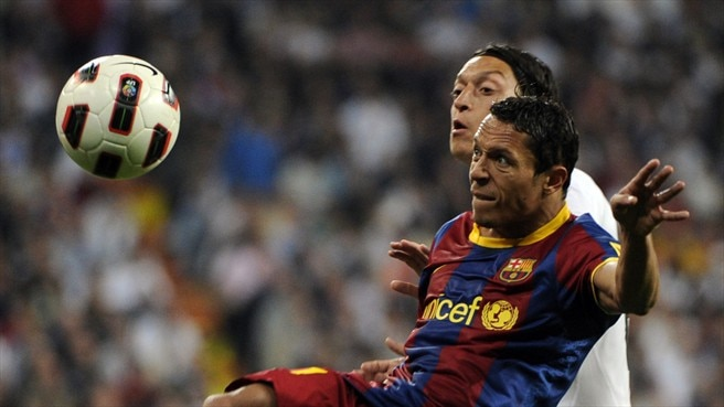 Barcelona's Adriano ruled out of semi-final