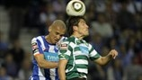 Maicon Roque (FC Porto) & Maicon Roque (L) of FC Porto vies with Abel Ferreira (Sporting Clube de Portugal)