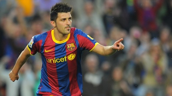 David Villa in focus