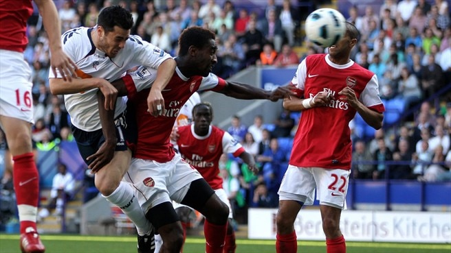 Arsenal left reeling after last-gasp Bolton loss